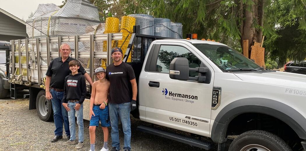 Hermanson brings supplies to Malden, WA Image
