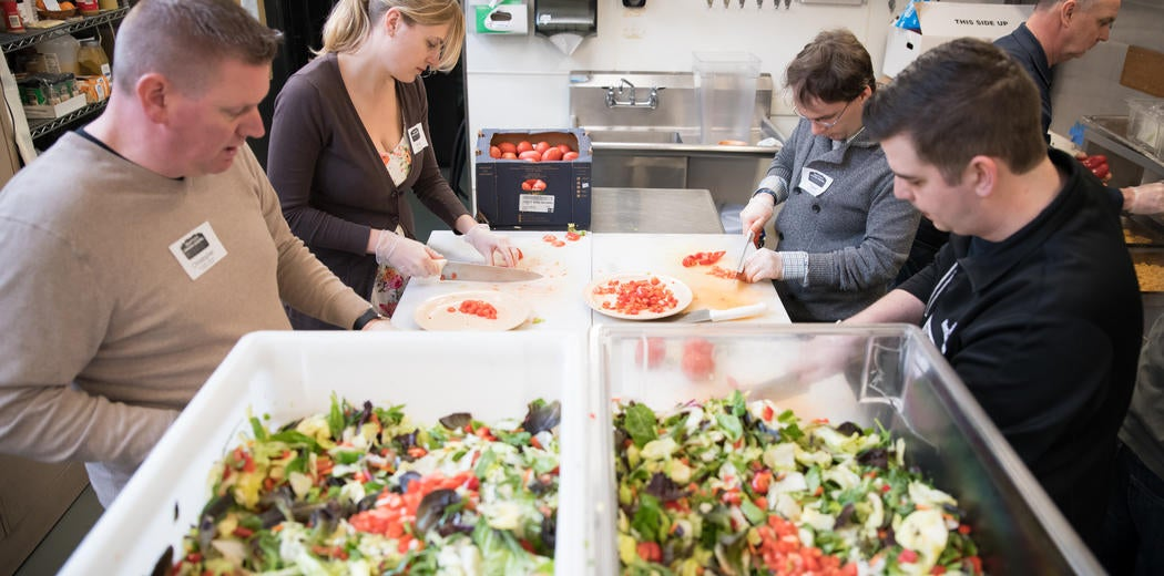 Hermanson serves lunch at the Seattle Union Gospel Mission Image
